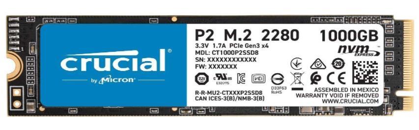 Crucial SSD de 1TB NVMe PCIe M.2