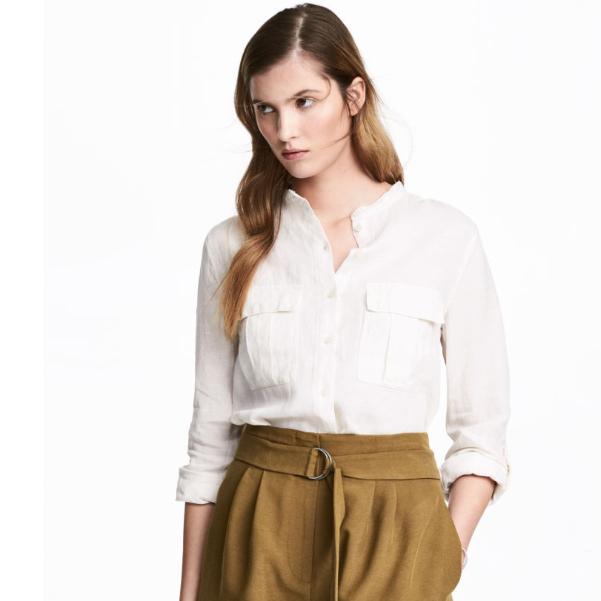 Camisa de lino H&M