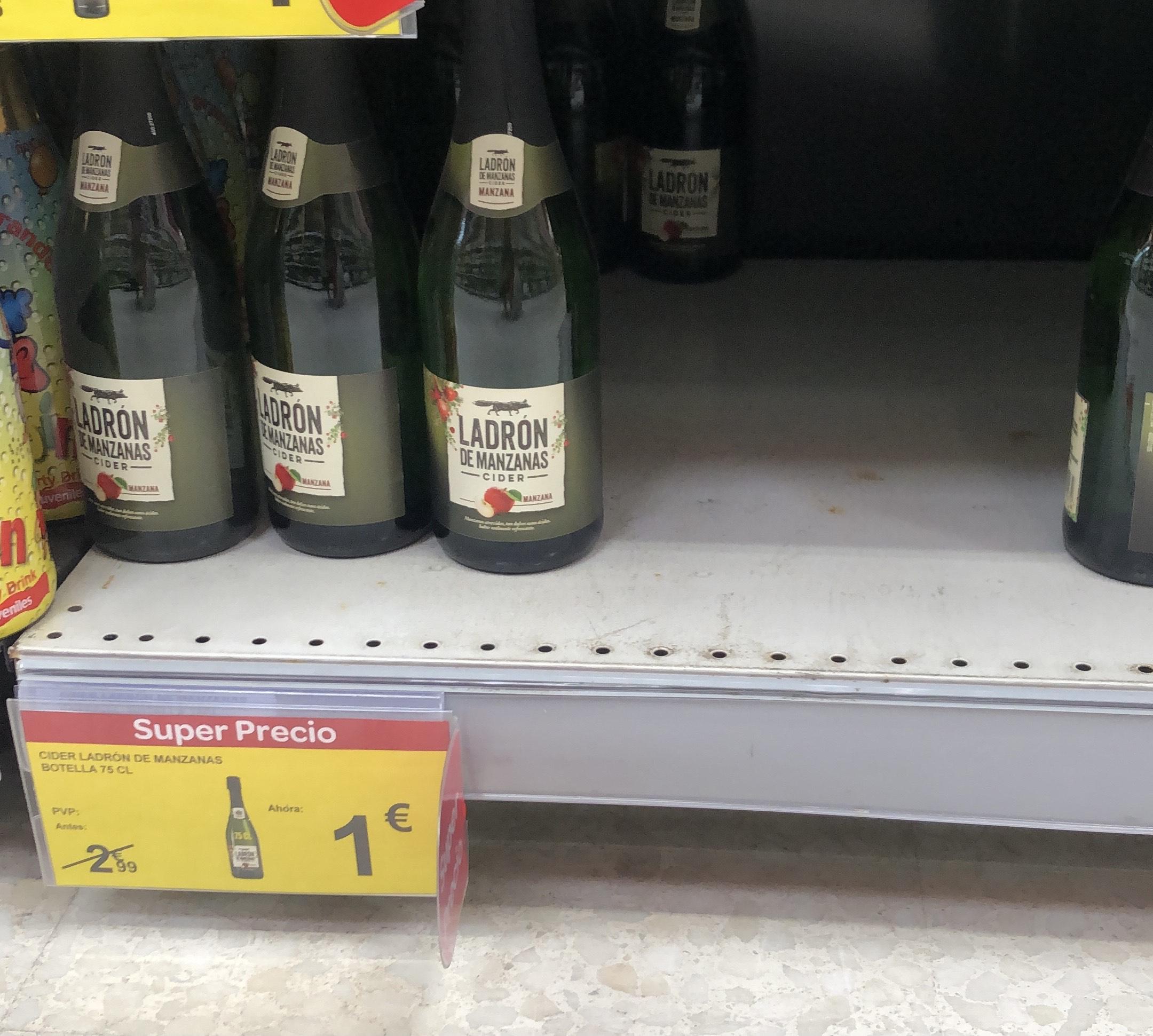 Ladrón de manzana 75cl. Carrefour (Ciudad de la Imagen)