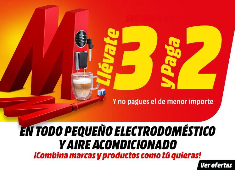 ¡3x2! En pequeño electrodoméstico y aires