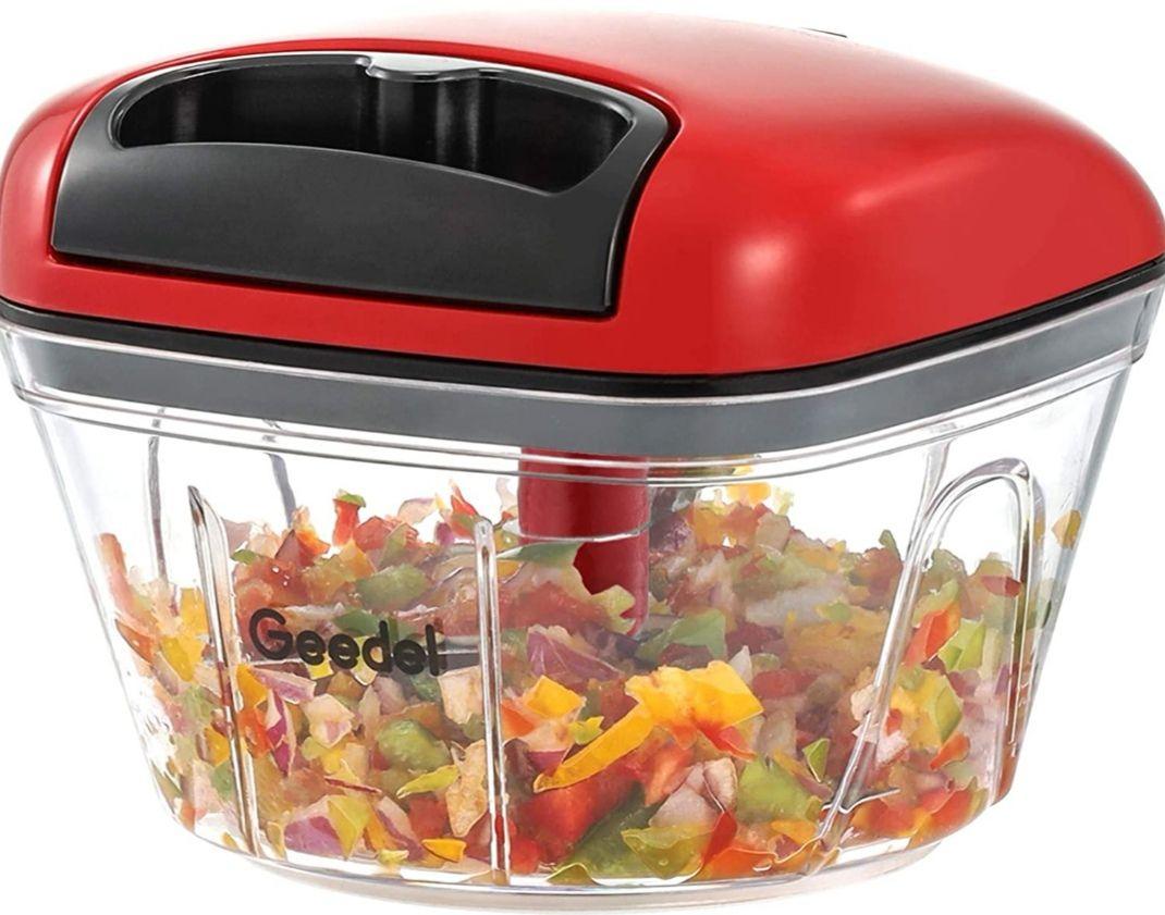 Picadora manual de alimentos : Verduras, Frutas, Nueces... Disponible en 3 colores