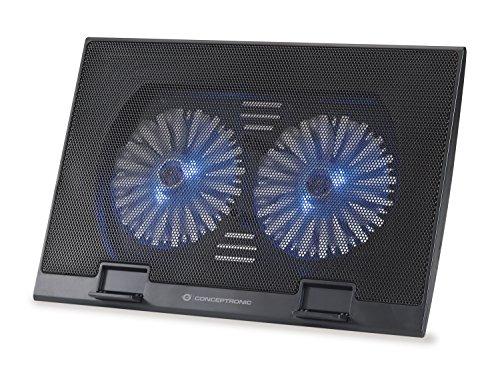 """Conceptronic THANA02B Almohadilla fría 43,2 cm (17"""") Negro - Base de refrigeración Base refrigeración ordenador portatil"""