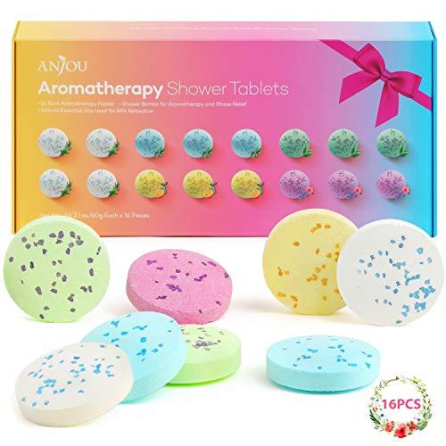 Tabletas Anjou De Ducha Para Aromaterapia Con Aceites Esenciales Puros, Juego De 1