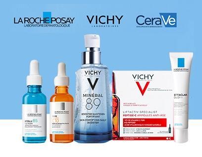 15% al comprar 2 productos + 10% EXTRA en Vichy, La Roche Posay y Cerave