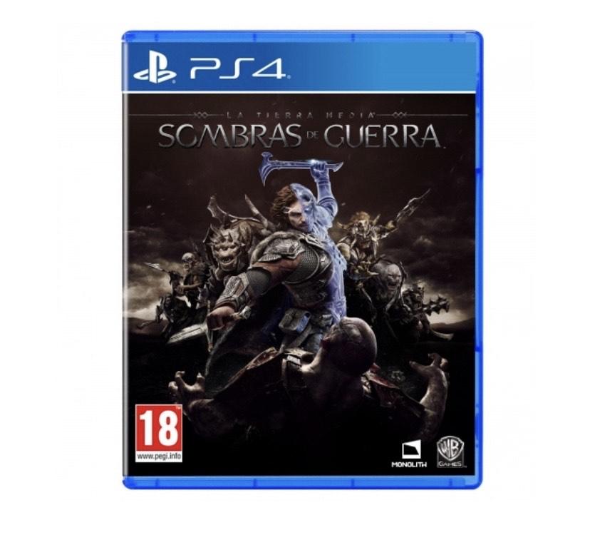 Tierra media sombras de guerra para PS4