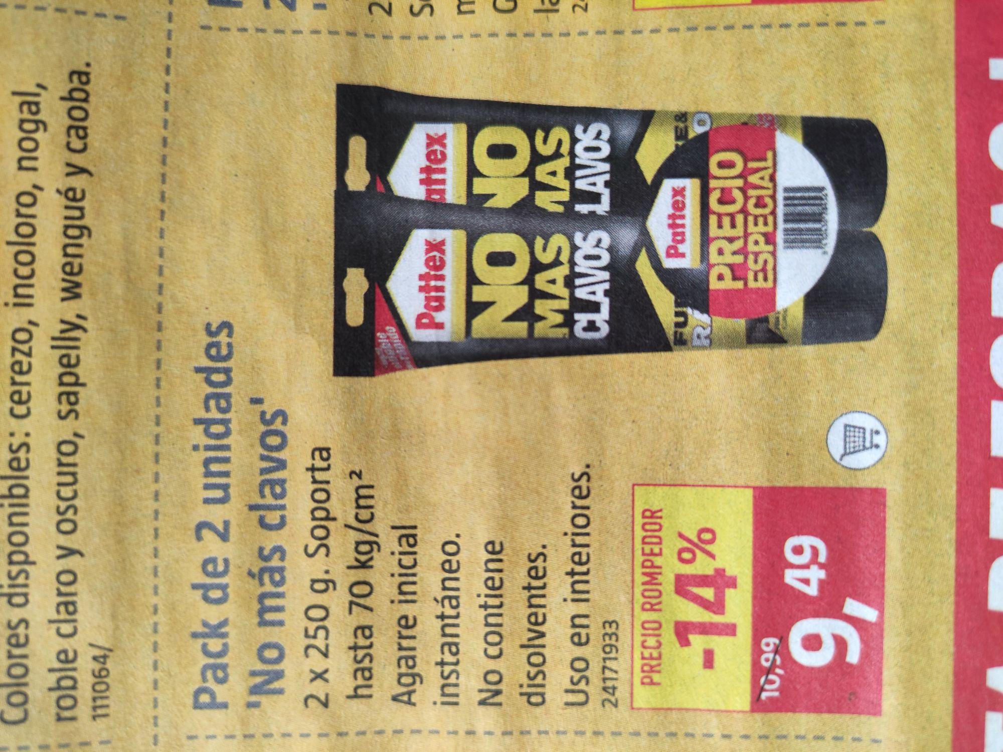 Pattex Adhesivo para montaje pack en tubo No más clavos