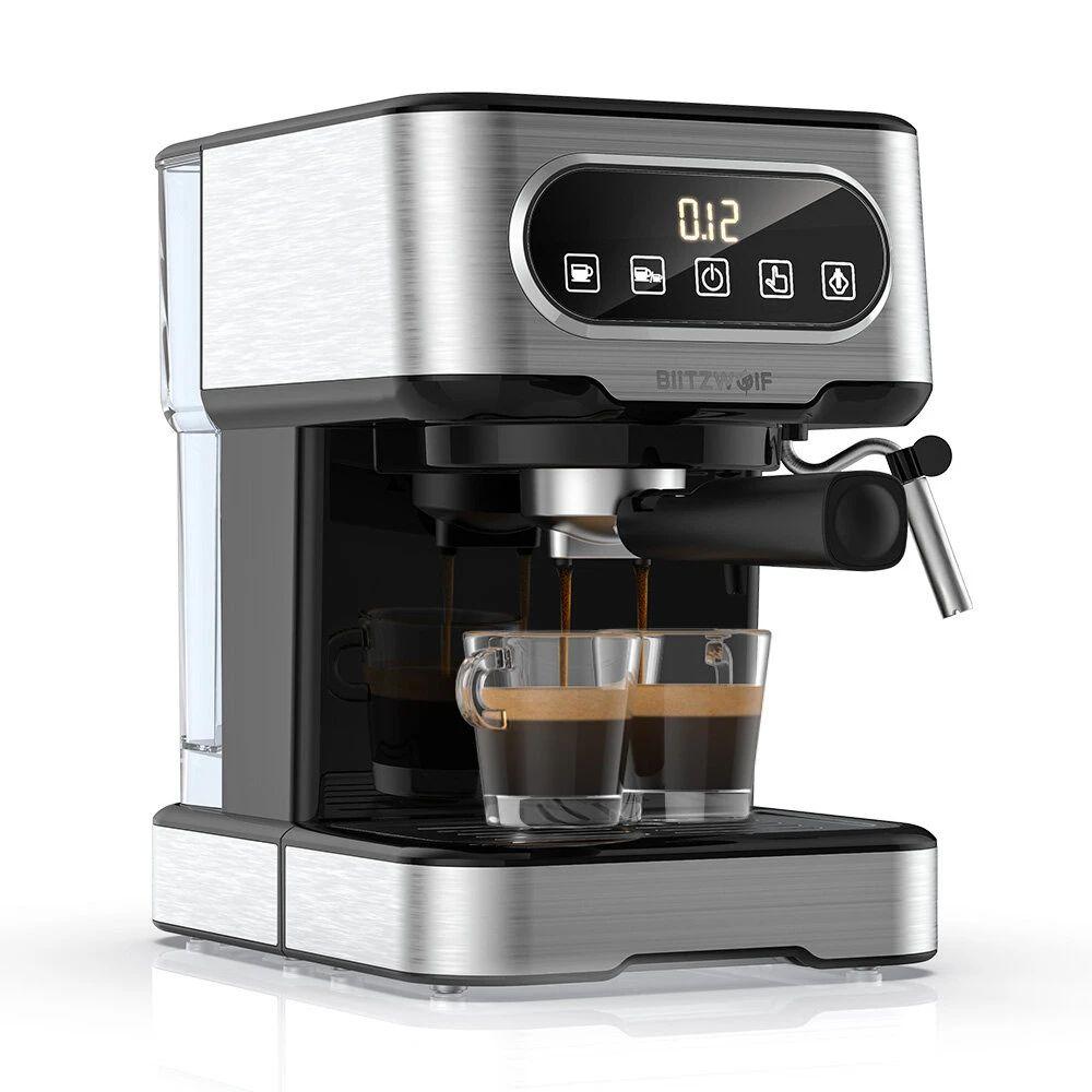 BlitzWolf BW-CMM2 Cafetera Espresso 20 Bar con Espumante de Leche Control Preciso(Desde Europa)