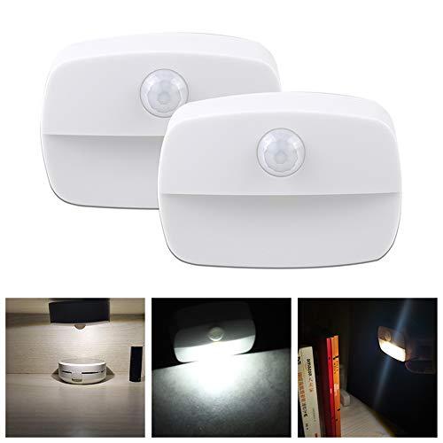 Pack de 2, unidades, de luz de noche , nocturna LED con sensor de movimiento, que Funcionan con Pilas