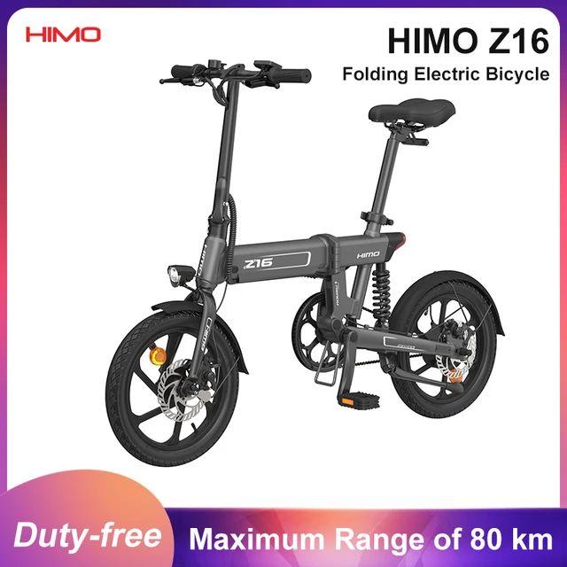 HIMO-Bicicleta Eléctrica Z16, plegable, urbana, para exteriores, 25 km/h, 80KM, 250W