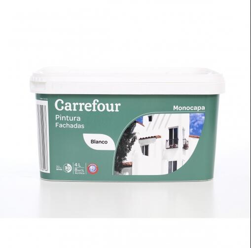 Pintura Fachadas Monocapa Acrílica Blanco Carrefour 4L
