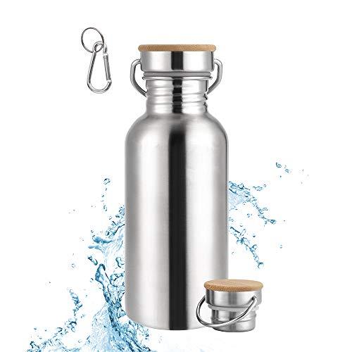 Botella de Agua Acero Inoxidable 500ml, Termica Reutilizable Deportiva Sin Bpa con Tapa.