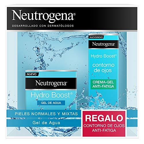 Neutrogena Hydro Boost Pack Hidratación Facial 24 horas, Gel de Agua Hydro Boost 50ml y Contorno de Ojos Anti,Fatiga 15ml