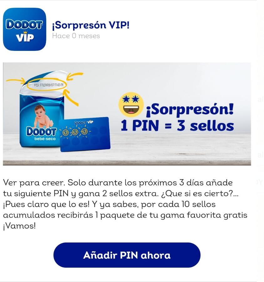 Dodot VIP - Pin x3 sellos