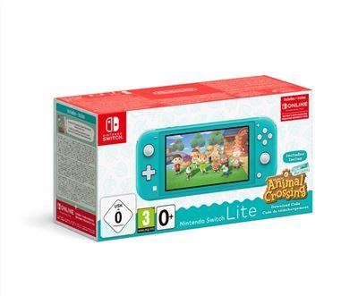 Nintendo Switch Lite Azul turquesa + Animal Crossing New Horizons + 3 meses NSO