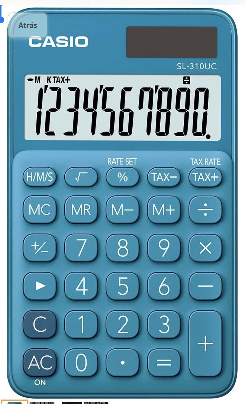 Calculadora, Casio 0.8 x 7 x 11.8 cm