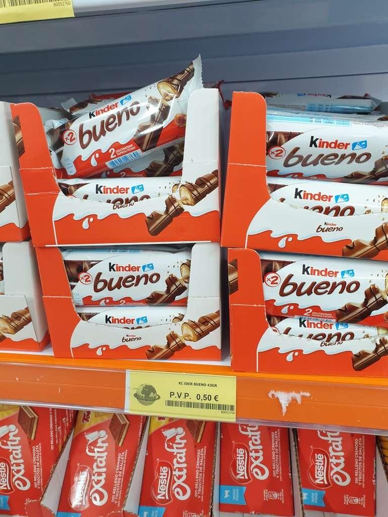 Kinder bueno a 0.50€/unid (Tienda física)