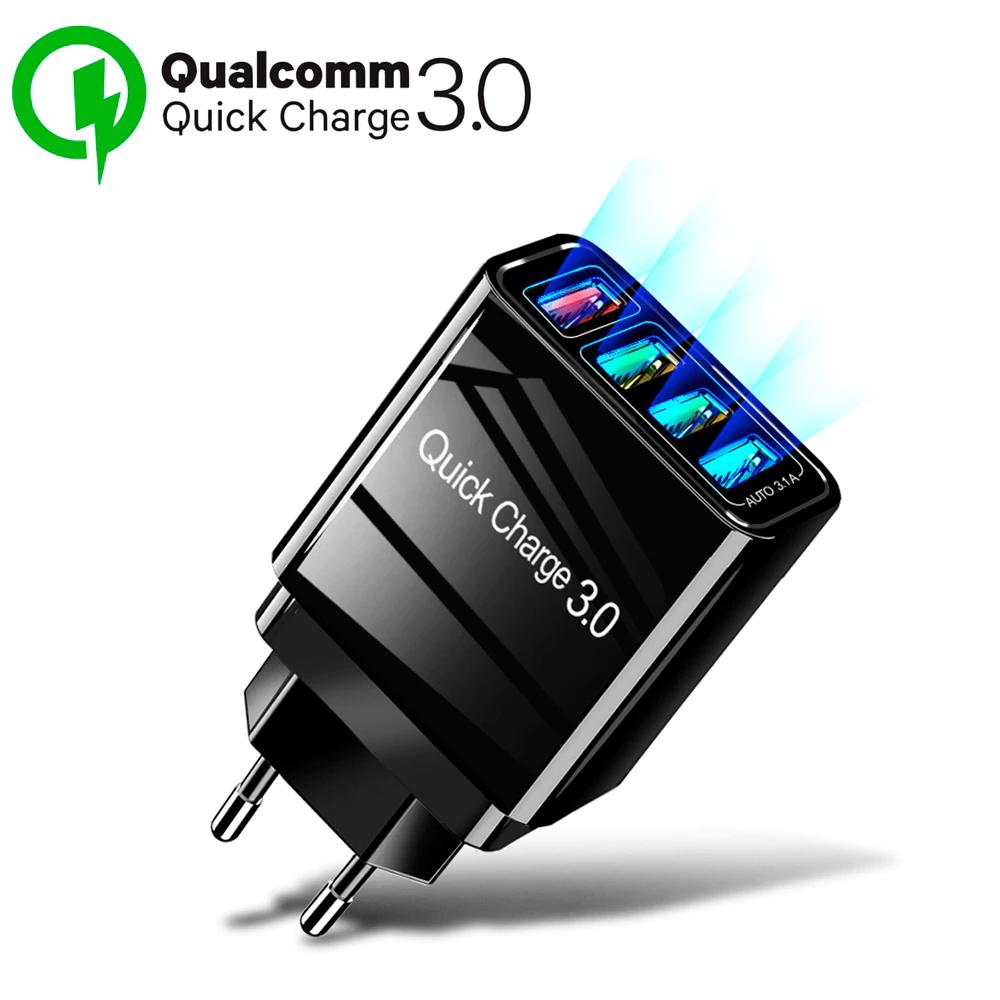 Cargador 4 USB Quick Charge 3.0