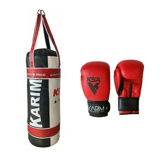 Guantes y Saco de Boxeo 24 kilos