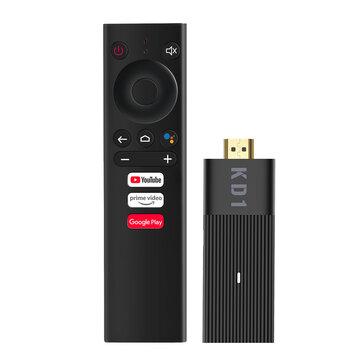 TV Stick MECOOL KD1 Amlogic S905Y2 2GB RAM 16GB ROM BT4.2 2.4G 5G WiFi Android 10 ATV OS 4K HDR10 Streaming Media Player