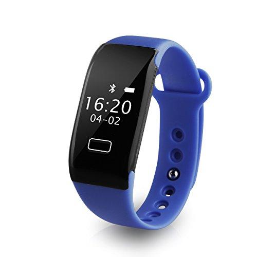 Diggro K18S - Pulsera Inteligente Smartwatch IP65 Cámara alejada Sport Rastreador Pasos, Calorías, Distancia, Ritmo Cardiaco, Call/SMS, Recordatorio Sedentaria, para Andriod iOS (Azúl)
