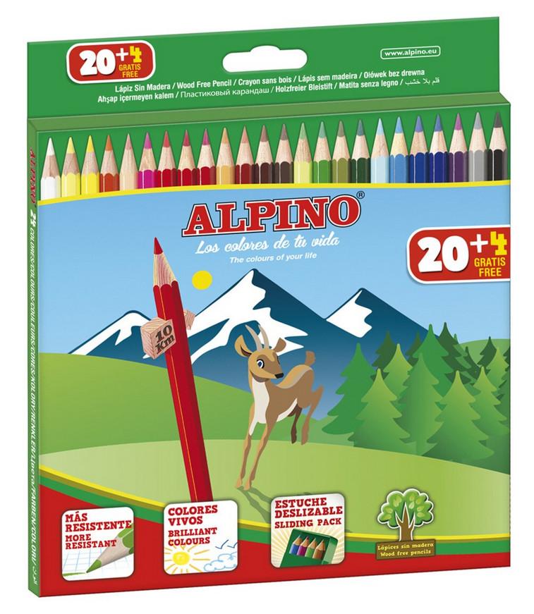 Caja de 24 lápices de colores Alpino