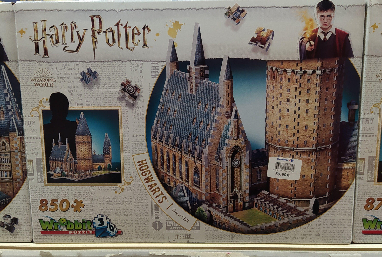 Puzzle 3D Castillo Hogwarts great Hall Harry Potter en C.C Atalayas de Murcia, outlet de Carrefour. Al 50%
