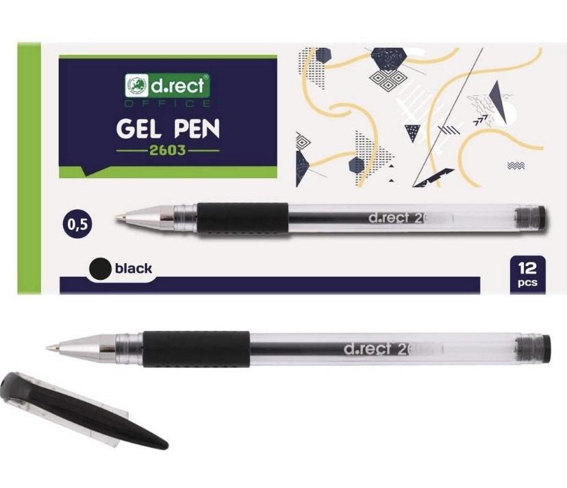 12 Bolígrafos de tinta gel (agarre de goma