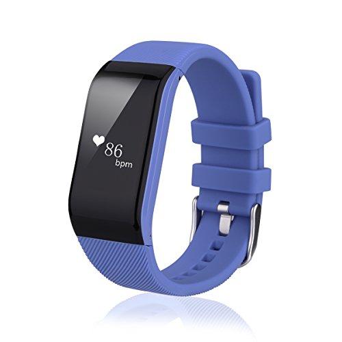Diggro R1 - Pulsera Inteligente Reloj Smartwatch IP67 Impermeable Sport Cuenta Pasos, Podometro, Calorías, Distancia, Ritmo Cardiaco, Call/SMS, Recordatorio Sedentaria (Azúl)