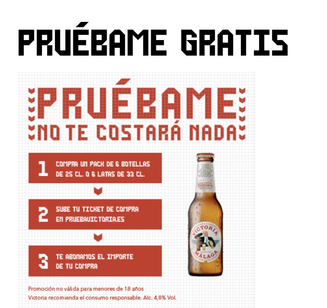 Prueba gratis Cerveza Victoria(Reembolso)