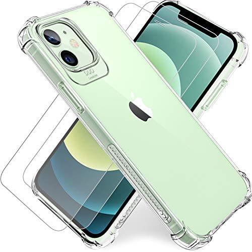Funda iPhone 12 + 2 pack Protector de pantalla + Cristal templado