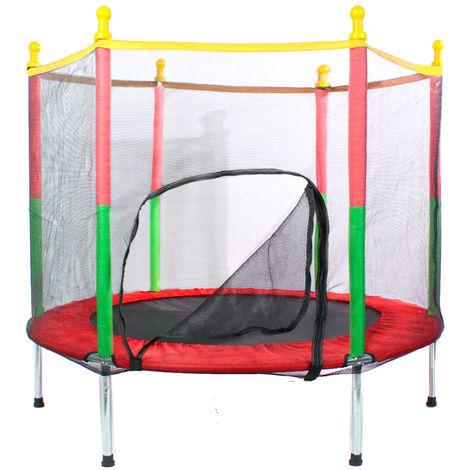 Mini cama elástica con red protectora 1,4 x 1,2 para los peques