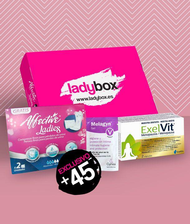 Gratis caja productos íntimos mujeres +45