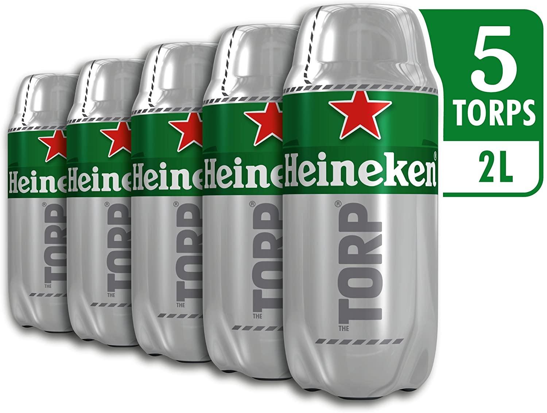 Caja 5 Torps Heineken 10L solo 15€