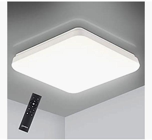 Oeegoo 24W Lámpara de Techo Regulable, 2400LM LED Plafón, IP54 Impermeable