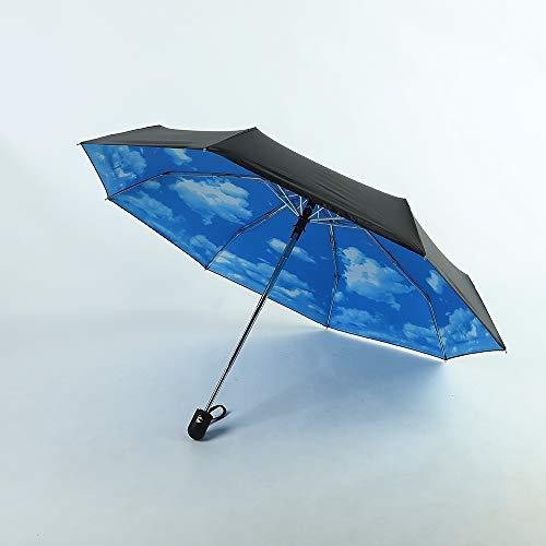 Paraguas con cielo muy bonito :)