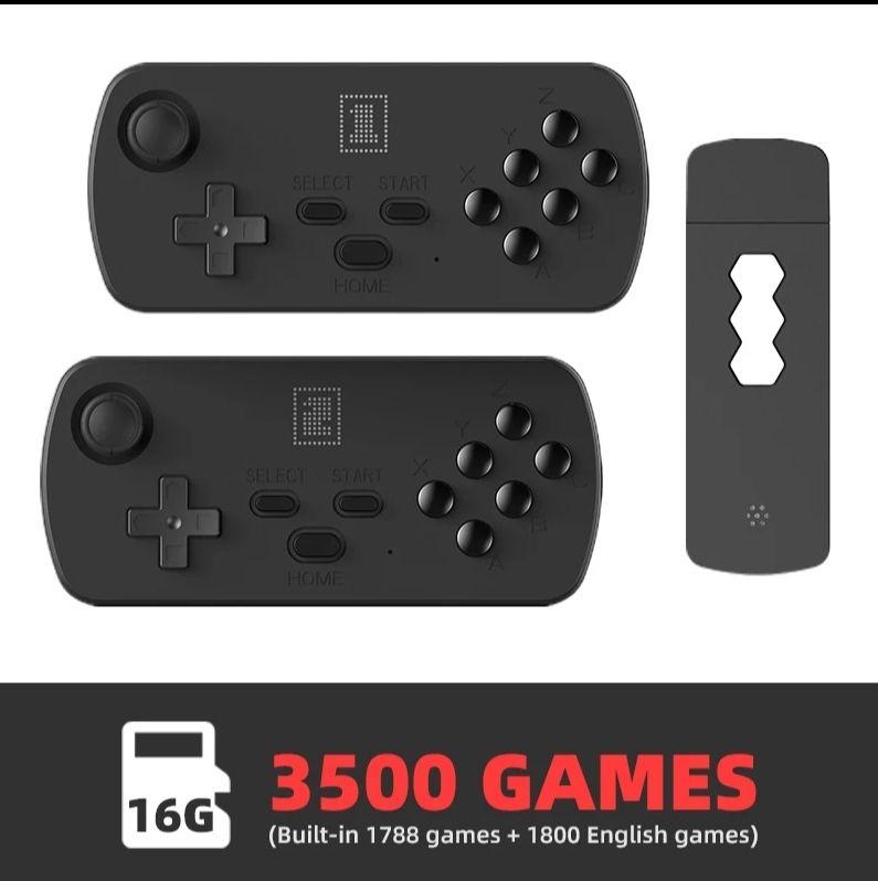 DATA FROG-consola de videojuegos 4K HD, doble mando inalámbrico de 2,4G