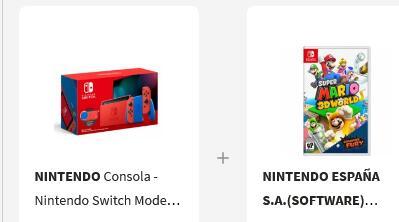 Nintendo Switch Modelo 2019 (Ed. Mario) + Super Mario 3D World + Bowser's Fury