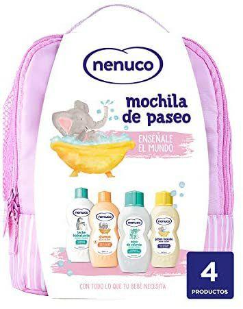 Nenuco Pack Bebé Mochila de Paseo color rosa