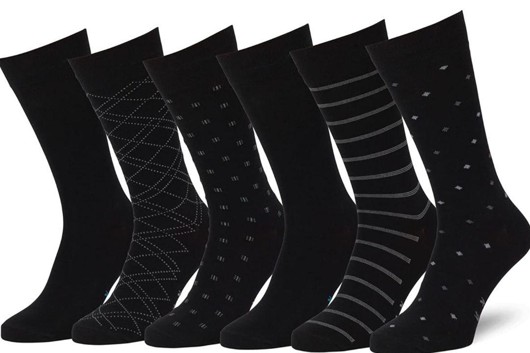 6 Pares de calcetines algodón,estampados, Lisos (unisex)