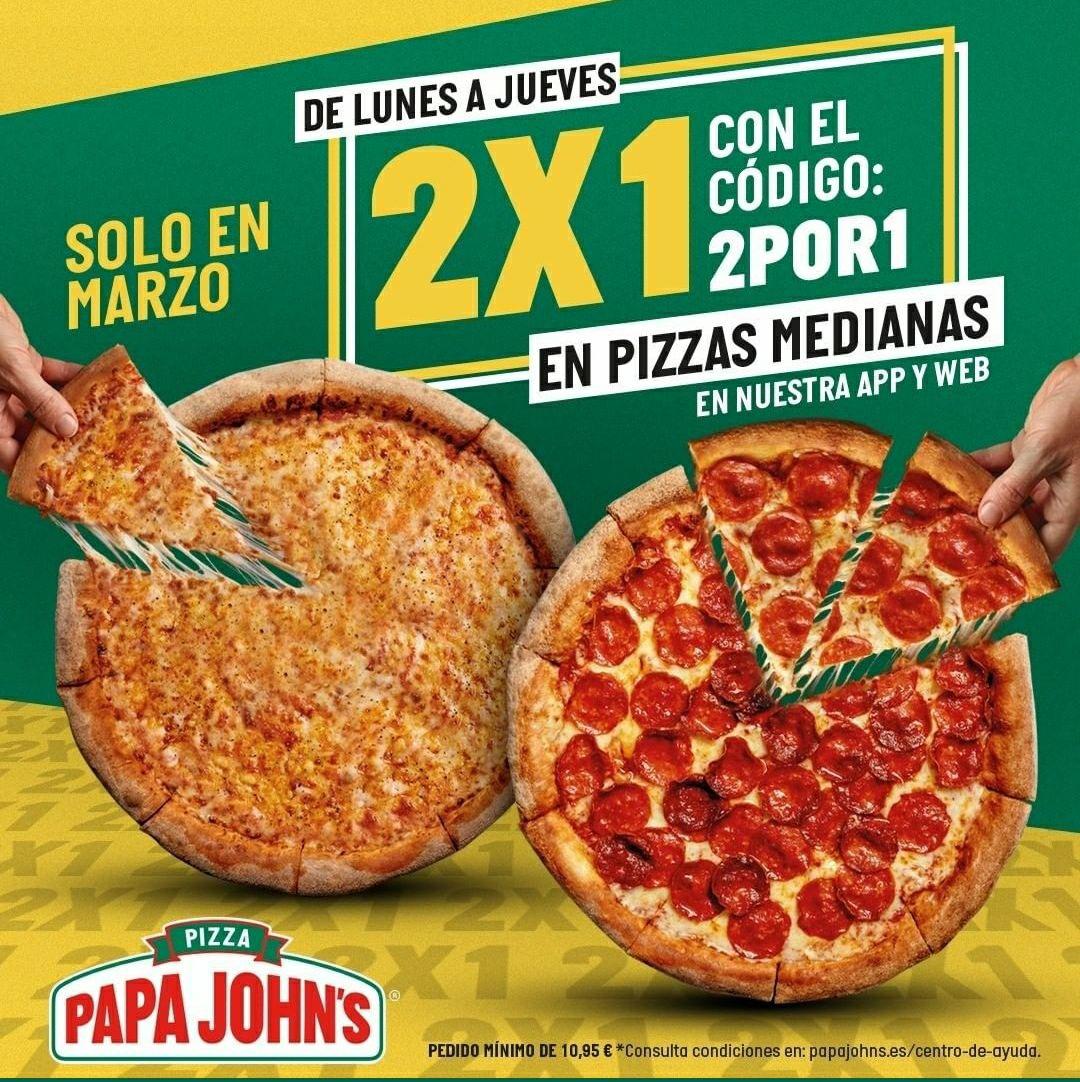 2x1 en Papa John's