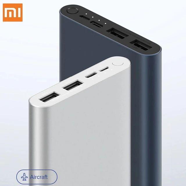Xiaomi-batería externa Original para móvil, Powerbank 3 de 10000mAh con 3 salidas USB