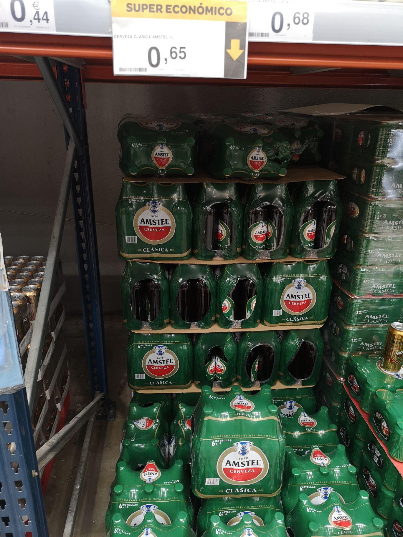 Cerveza Amstel 1Litro en Supeco Alcalá de Henares