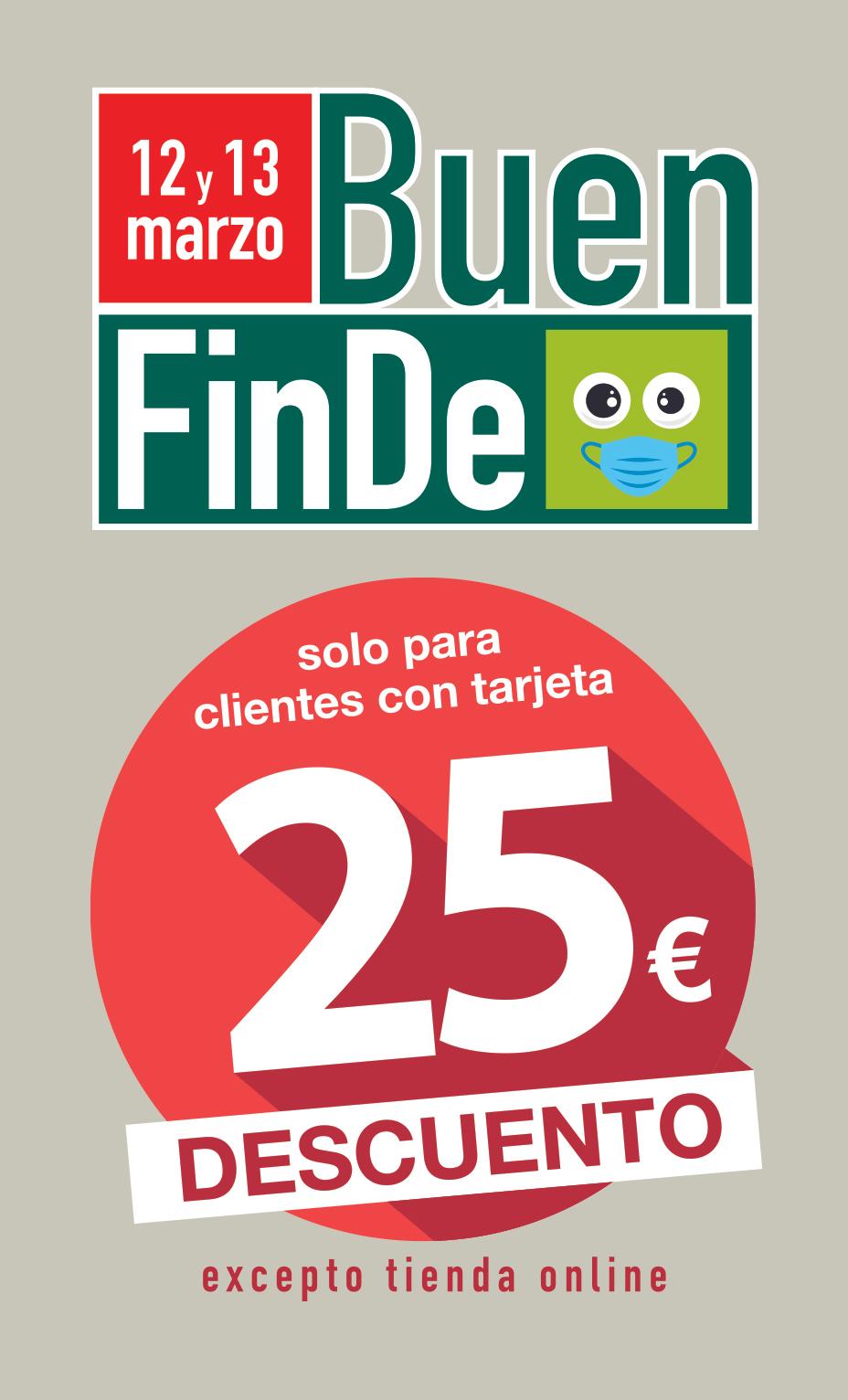 Vale descuento de 25 euros por cada 50 euros de compra los dias 12 y 13 de marzo en Masymas