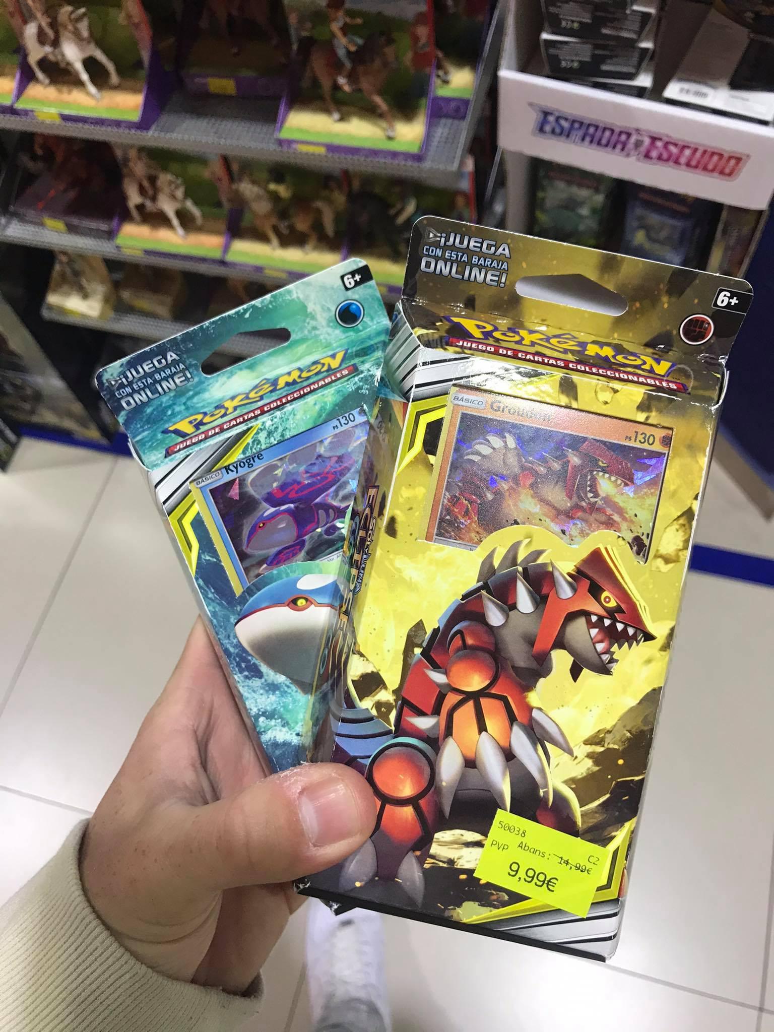 Baraja cartas Pokémon Groudon / Kyogre Sol y Luna-Eclipse Cósmico 9,99€ en Drim CC Splau
