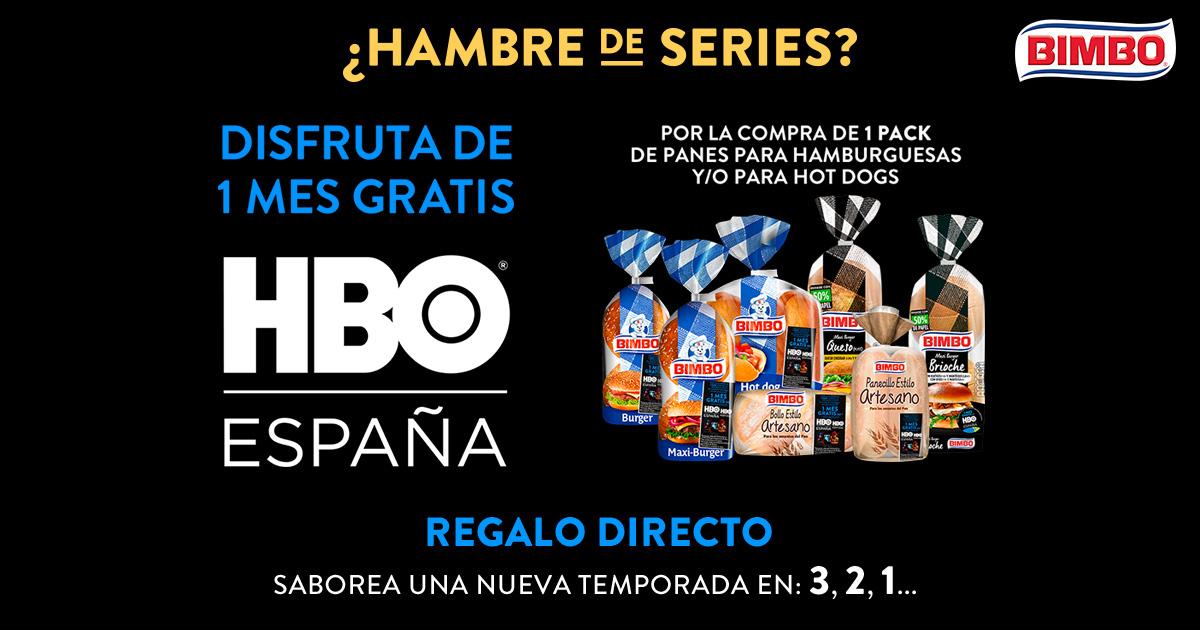 1 mes de HBO gratis comprando Bimbo