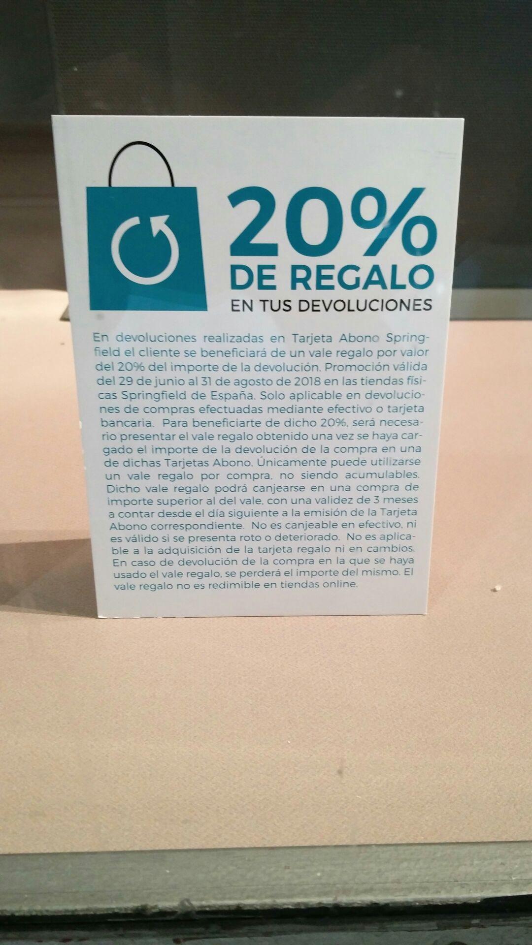 20% EXTRA EN DEVOLUCIONES