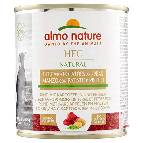 Almo nature HFC Natural - Vacuno, guisantes y patatas, 12 x 290g (perros)
