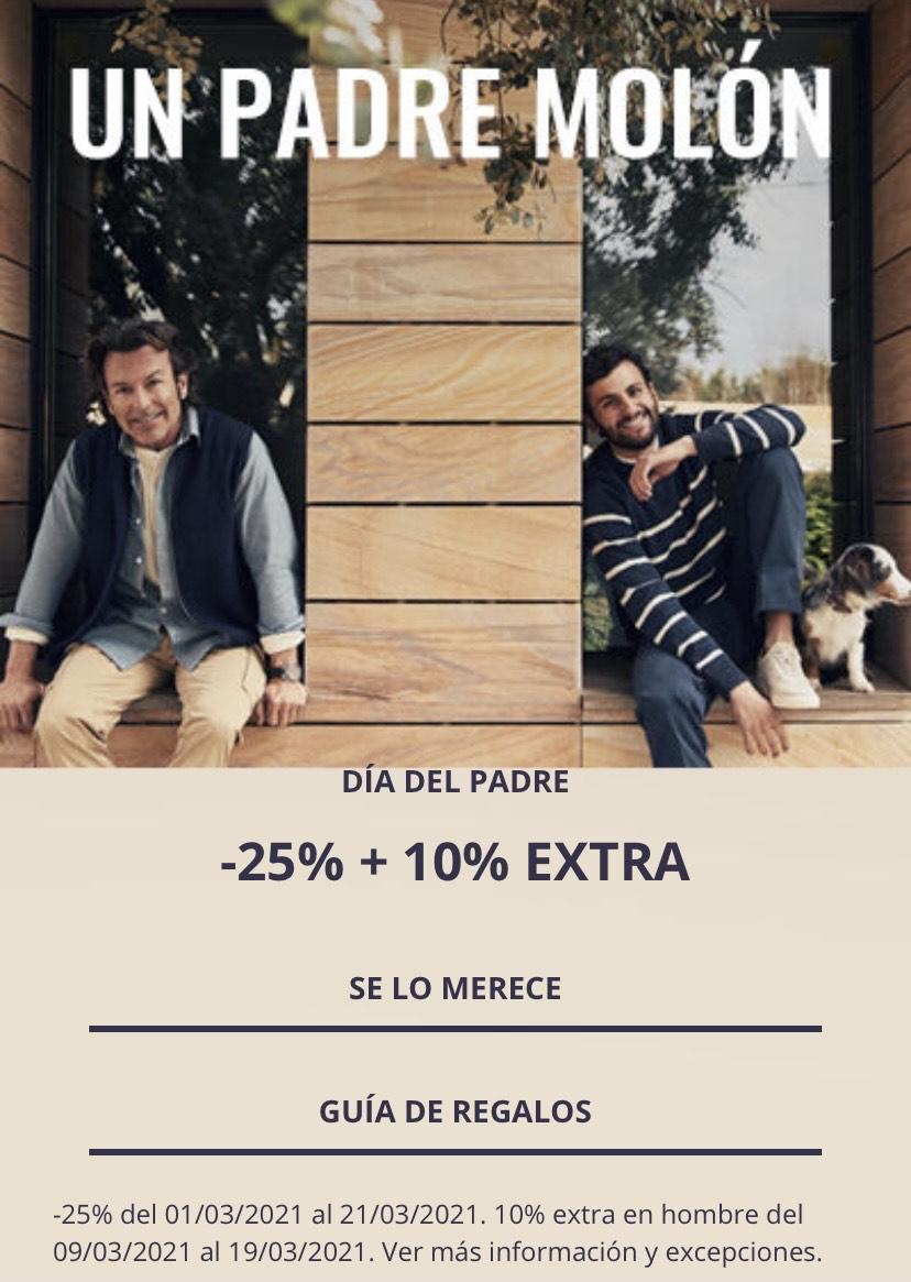 35% descuento en ropa de hombre