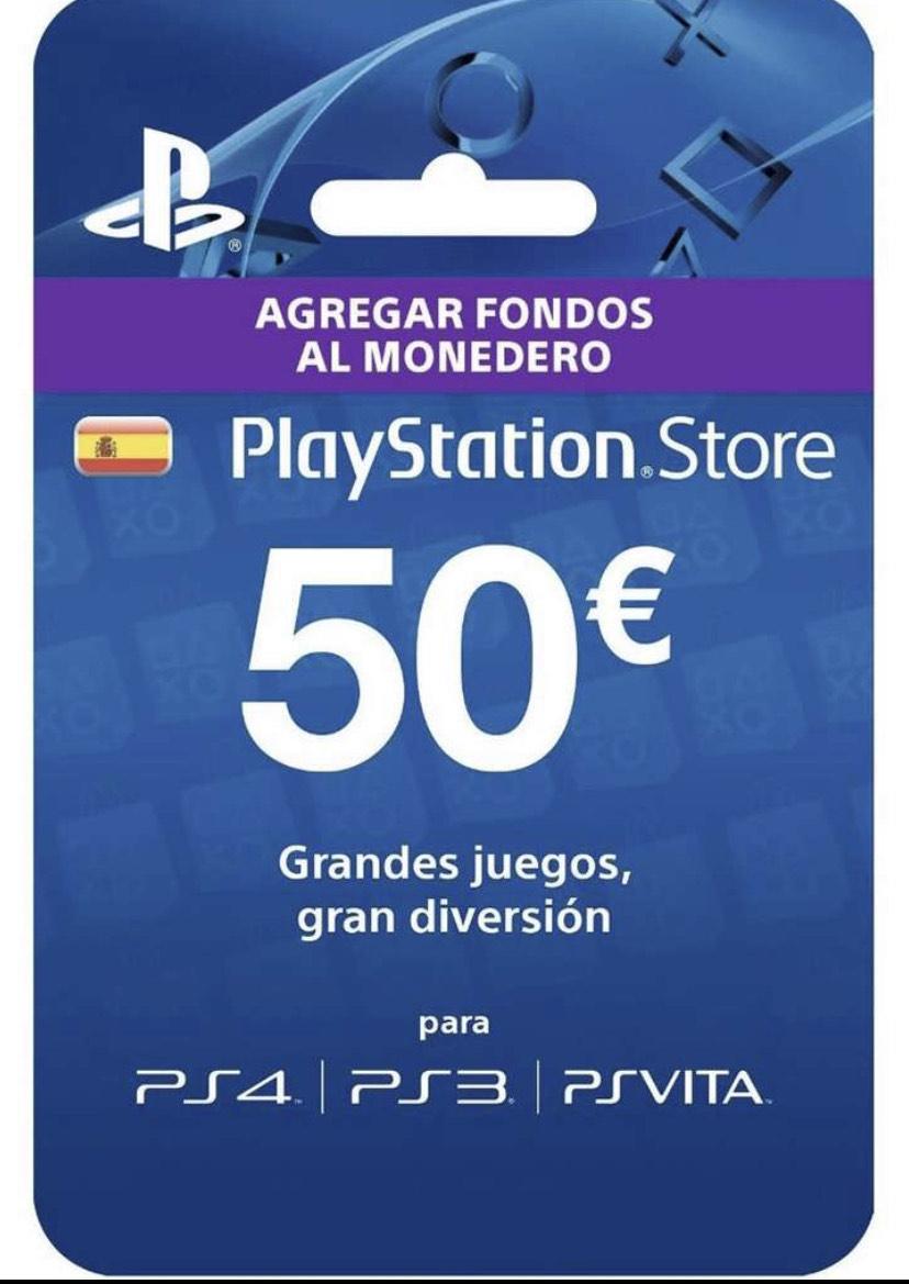 Tarjeta 50€ PSN por 38,66€
