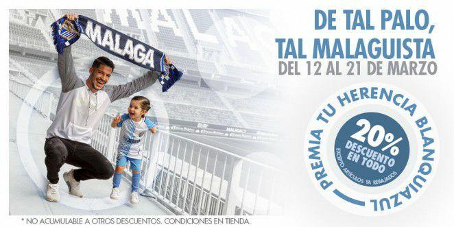 Descuento del 20% en la tienda del Málaga CF por el día del padre
